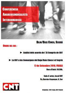 Conferència afiliad@s Fraga-Lleida CNT