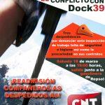 [CNT-Dock39] Manifestación en Puerto Venecia por la readmisión de los compañeros/as de Dock39
