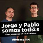[CNT-Zaragoza] Concentración solidaridad Jorge y Pablo contra la sentencia de la vergüenza