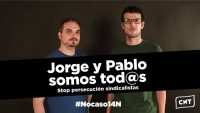 [CNT-Zaragoza] Concentración solidaridad Jorge y Pablo contra la sentencia de la vergüenza