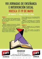 [CNT-Huesca] VIII Jornadas Confederales de Enseñanza e Intervención Social (17 a 19 de mayo )