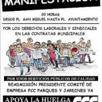 [Zaragoza] Continúa la huelga en FCC-Parques y Jardines