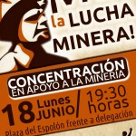 [Logroño] Desde CNT Logroño se asistirá a la concentración en apoyo a los mineros