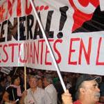 """Nuevo Llamamiento """"La lucha está en la calle. Hacia la Huelga General"""""""