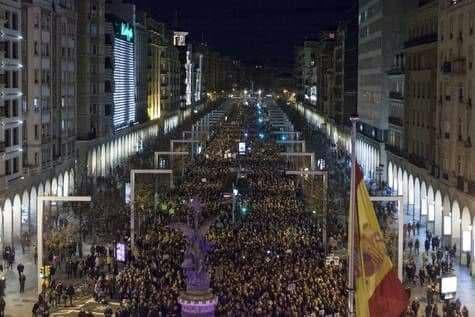 Manifestación-8M-Zaragoza-2018-Paseo de la Independencia