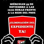 [CNT-SALUD] Concentración miércoles 16/11 a las 19 horas frente a la sede del PSOE