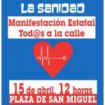 [Zaragoza] 15 de abril: No nos toquéis la Sanidad
