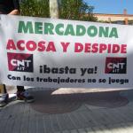 La CNT de Fraga, se solidariza con las trabajadoras de Mercadona que han presentado denuncia por acoso laboral contra la empresa.
