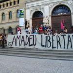 Crónica de la concentración por la libertad de Amadeu Casellas