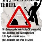 [CNT-Teruel] Manifestaciones y piquetes del Bloque Crítico de Teruel