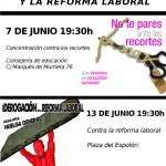 [Logroño] Jueves 7 y Miércoles 13 sal a la calle contra los recortes y la reforma laboral