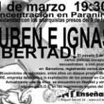 [CNT-Zaragoza] Concentración en solidaridad con Ruben e Ignasi