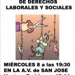 [Zaragoza] Charla Sindical el miércoles 8 en el barrio de San José