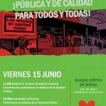 [Teruel] Concentración y presentación de la Plataforma Contra la Privatización de la Sanidad de Aragón