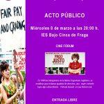 8 de Marzo, acto público en Fraga