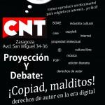 [CNT-Zaragoza] Viernes 7 de Febrero – Proyección y debate sobre: ¡Copiad malditos!
