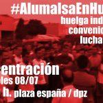 [CNT-Zaragoza] Concentración en apoyo a la Huelga en Alumalsa miércoles 08/07