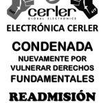 [CNT-Zaragoza] Electrónica Cerler deberá readmitir por segunda vez a un mismo trabajador.