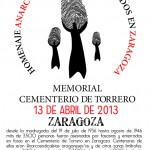 Homenaje Anarcosindicalistas asesinados 1936-2013 Zaragoza