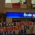 [Logroño] Concentración en ADECCO en solidaridad con ABB Córdoba