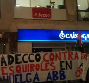Concentracion ADECCO por ABB en Logroño 6 febrero