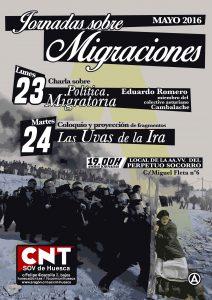 [CNT-Huesca] 23-24 mayo: JORNADAS SOBRE MIGRACIONES . AAVV BARRIO PERPETUO SOCORRO