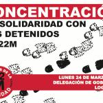 [Logroño] Concentración en solidaridad con los detenidos del 22m