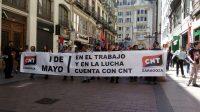[CNT-Zgz] La CNT concluye el primero de mayo reivindicando su modelo sindical