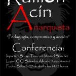 [Cnt-Zaragoza] Charla: Pedagogía, compromiso y acción. Ramón Acín 27-04-13