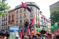 Este 1 de Mayo, la CNT zaragozana salió a la calle
