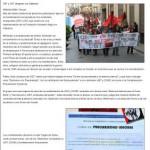 La prensa local se hace eco de la manifestación contra la Reforma Laboral