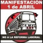 Autobús a Madrid desde Zaragoza. Manifestación+Meeting+Concierto contra la nueva reforma laboral