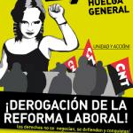 La CNT convoca Huelga General el próximo jueves 29 de Marzo